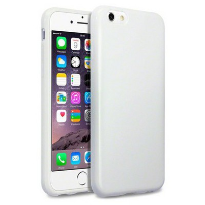 Microsonic Glossy Soft Iphone 6s Kılıf Beyaz Cep Telefonu Kılıfı