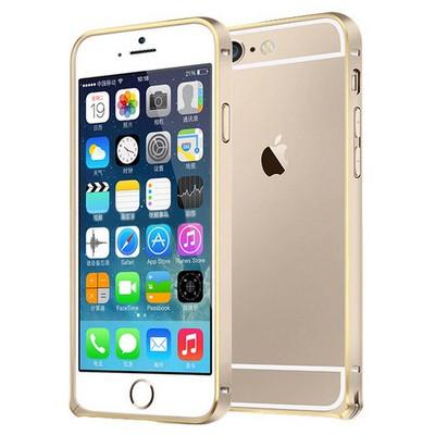 Microsonic Iphone 6s Ultra Thin Metal Bumper Kılıf Gold & Gold Cep Telefonu Kılıfı