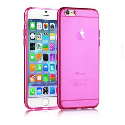 Microsonic Slim Transparent Soft Iphone 6s Kılıf Pembe Cep Telefonu Kılıfı