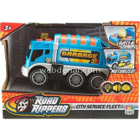 Road Rippers R.r.sesli Ve Işıklı Mini Hizmet Araçı M.temizlik Aracı Arabalar