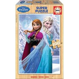 Educa Çocuk  Ahşap 100 Frozen Puzzle