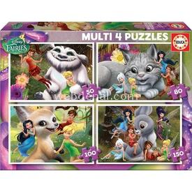 Educa Çocuk  Multi 4 In 1 Fairies Puzzle