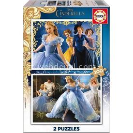 Educa Çocuk  Simli Karton 2x100 Cindirella Puzzle