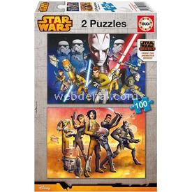 Educa Çocuk  Karton 2x100 Star Wars Rebels Puzzle