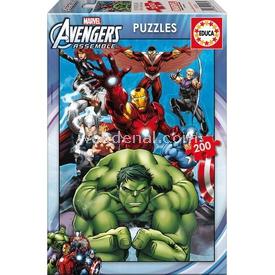 Educa Çocuk  Karton 200 Avengers Puzzle