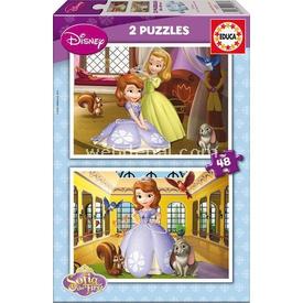 Educa Çocuk  Karton 2x48 Sofia The First Puzzle