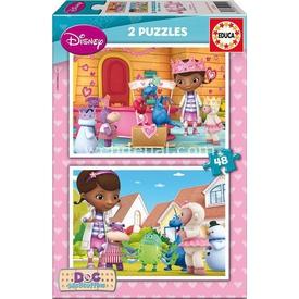 Educa Çocuk  Karton 2x48 Doc Mcstuffins Puzzle