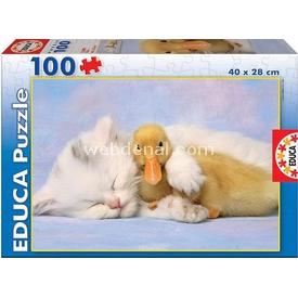Educa Çocuk  Karton 100 My Best Friend Puzzle