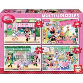 Educa Çocuk  Multi 4 In 1 Minnie Puzzle