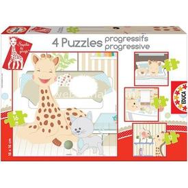 Educa Çocuk  Karton 6+9+12+16 Progresif Sophie La Puzzle