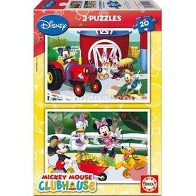 Educa Çocuk  Karton 2x20 Mickey Mouse Club House Puzzle