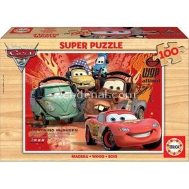 Educa Çocuk  Ahşap 100 Arabalar 2 Puzzle