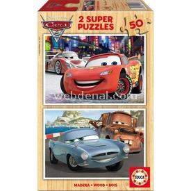 Educa Çocuk  Ahşap 2 X 50 Arabalar 2 Puzzle