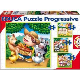 Educa Çocuk  Karton 6-9-12-16 Hayvanlar Puzzle