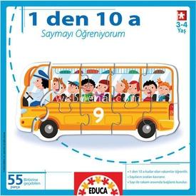 """Educa Çocuk  1""""den 10""""a Saymayı Öğreniyorum Puzzle"""