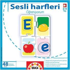 Educa Çocuk  Sesli Harfleri Öğreniyorum Puzzle
