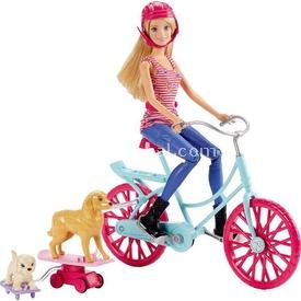 Barbie Ve Köpekçikler Bisiklet Gezisi Oyun Seti Cld94 Bebekler