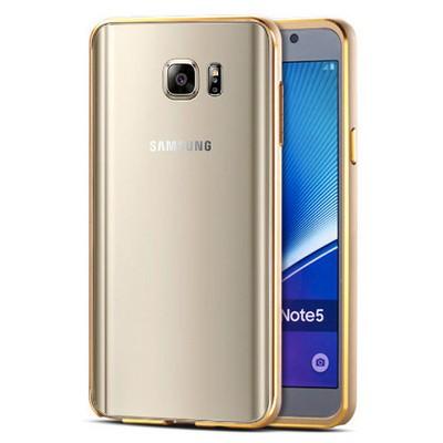 Microsonic Samsung Galaxy Note 5 Kılıf Ultra Thin Metal Bumper Gold Cep Telefonu Kılıfı