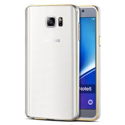 Microsonic Samsung Galaxy Note 5 Kılıf Ultra Thin Metal Bumper Gümüş Cep Telefonu Kılıfı