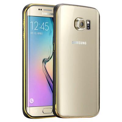 Microsonic Samsung Galaxy S6 Edge+ Plus Kılıf Ultra Thin Metal Bumper Siyah Cep Telefonu Kılıfı