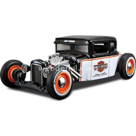 Maisto 1:24 1929 Ford Harley Davidson Siyah-beyaz Arabalar