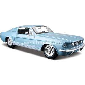 Maisto 1967 Ford Mustan Gt 1:24 Model Araba Mavi Arabalar