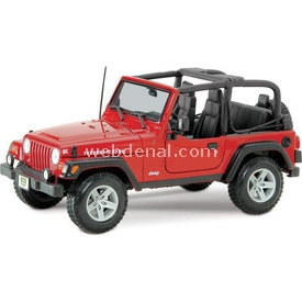 Maisto Wrangler Rubicon Jeep 1:18 Model Araba S/e Kırmızı Arabalar