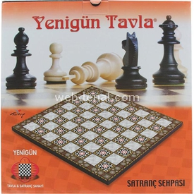 KS Satranç Sehpası Büyük Kutu Oyunları