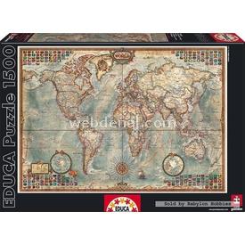 Educa 1500 Parça  Political Map Of The World Puzzle