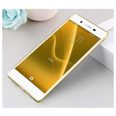 Microsonic Sony Xperia Z5 Kılıf Transparent Soft Gold Cep Telefonu Kılıfı