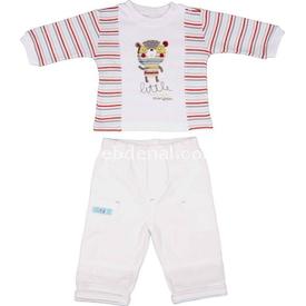 Bebepan Mr.cream Dokuma 2'li Takım Beyaz 0-3 Ay (56-62 Cm) Erkek Bebek Takım