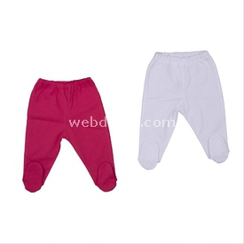 Bebepan Tropical 2'li Patikli Pantolon Beyaz 0 Ay (50-56 Cm) Pantolon & Şort