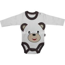 Babycool 1262510 Ayılı Uzunkol Body Krem-kahverengi 0 Ay (50-56 Cm) Erkek Bebek Body