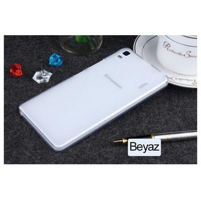 Microsonic Lenovo A7000 (k3 Note) Kılıf Transparent Soft Beyaz Cep Telefonu Kılıfı