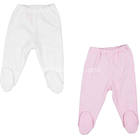 Bebepan Mrs.cream 2'li Patikli Pantolon Beyaz 0-3 Ay (56-62 Cm) Pantolon & Şort