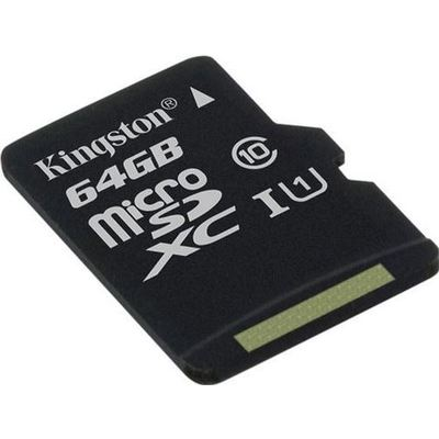 Kingston 64gb Microsdxc Clas 10 Uhs-ı 45mb/s Read Card+sd A Micro SD Kart