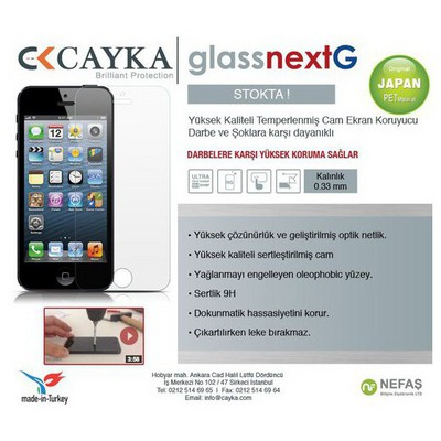 Cayka 2182 Cayka Iphone 6/6s Plus Glassnext Ekran Koruyucu Film