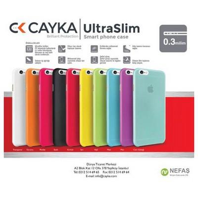 Cayka Cs-us-app-6p-bl Cayka Ultra Slım Iphone 6/6s Plus Mavi Kılıf Ekran Koruyucu Film