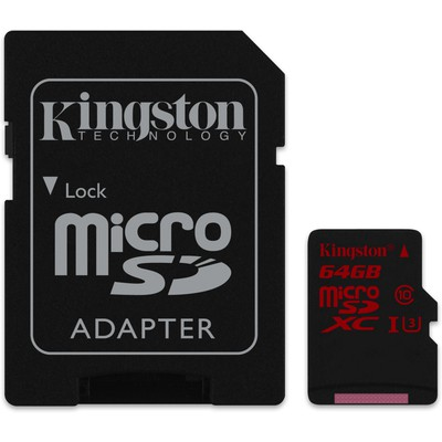 Kingston 64gb Micrsd U3 90/80 Sdca3/64gb Micro SD Kart