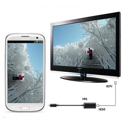 Microsonic 11 Pin Micro Usb To Hdmı Mhl Adaptör Samsung Galaxy S3 ,s4 ,s5, Note 2, Note 3 Dönüştürücü Kablo