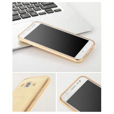 Microsonic Samsung Galaxy J2 Kılıf Transparent Soft Gold Cep Telefonu Kılıfı