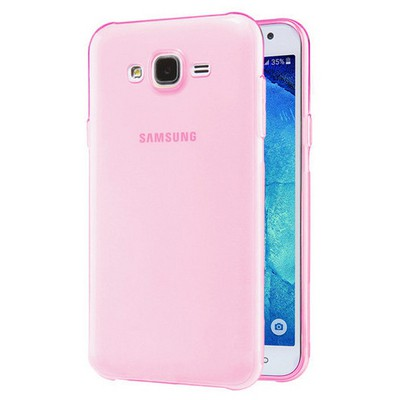 Microsonic Samsung Galaxy J2 Kılıf Transparent Soft Pembe Cep Telefonu Kılıfı
