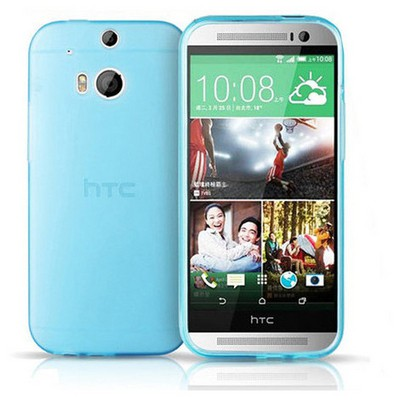 Microsonic Transparent Soft Htc One M8s Kılıf Mavi Cep Telefonu Kılıfı