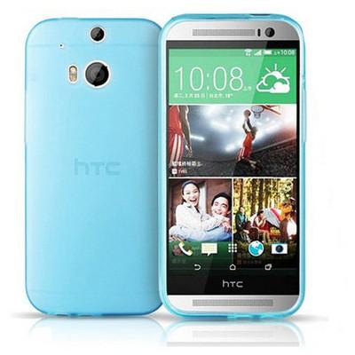 Microsonic Transparent Soft Htc One M8 Kılıf Mavi Cep Telefonu Kılıfı