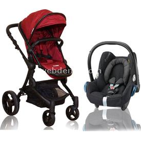 Premom Soho Bebek Arabası + Maxi Cosi Citi Oto Koltuğu Kampanyası Kırmızı Çift Yönlü Bebek Arabası