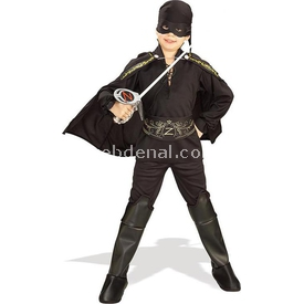 Rubies Zorro Klasik Çocuk Kostümü 4-6 Yaş Kostüm & Aksesuar