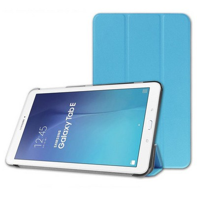 Microsonic Samsung Galaxy Tab E 9.6'' T560 Smart Case Ve Arka Kılıf Mavi Tablet Kılıfı