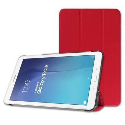 Microsonic Samsung Galaxy Tab E 9.6'' T560 Smart Case Ve Arka Kılıf Kırmızı Tablet Kılıfı