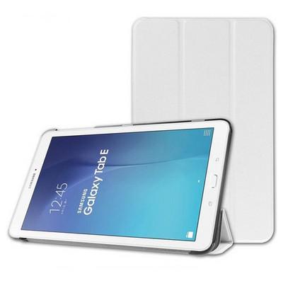 Microsonic Samsung Galaxy Tab E 9.6'' T560 Smart Case Ve Arka Kılıf Beyaz Tablet Kılıfı