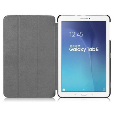 Microsonic Samsung Galaxy Tab E 9.6'' T560 Smart Case Ve Arka Kılıf Siyah Tablet Kılıfı
